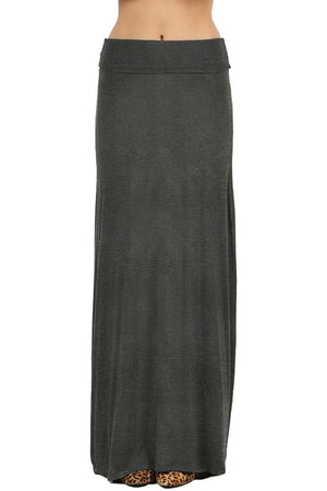 Draped Rayon Maxi Skirt Skirts- Niobe Clothing