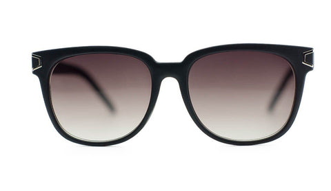 Unisex Wayfarer Wood Print Metal Accent Sunglasses