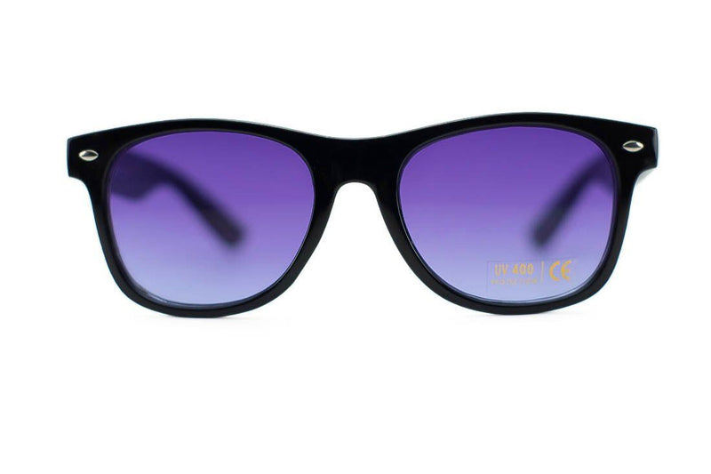 Unisex Black Wayfarer Frames with Assorted Colored Lens Sunglasses- Niobe Clothing