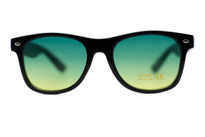 Unisex Black Wayfarer Frames with Assorted Colored Lens-Sunglasses-Niobe Clothing
