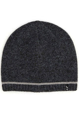 Skull Cap Single Stripe Accent Knit Beanie