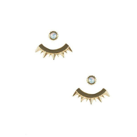 Eyes of Mars Earring in Opal and Gold