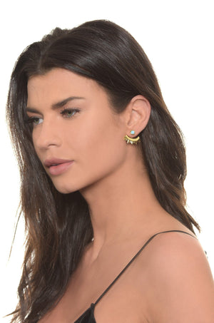 Eyes of Mars Earring in Opal and Gold Earrings- Niobe Clothing