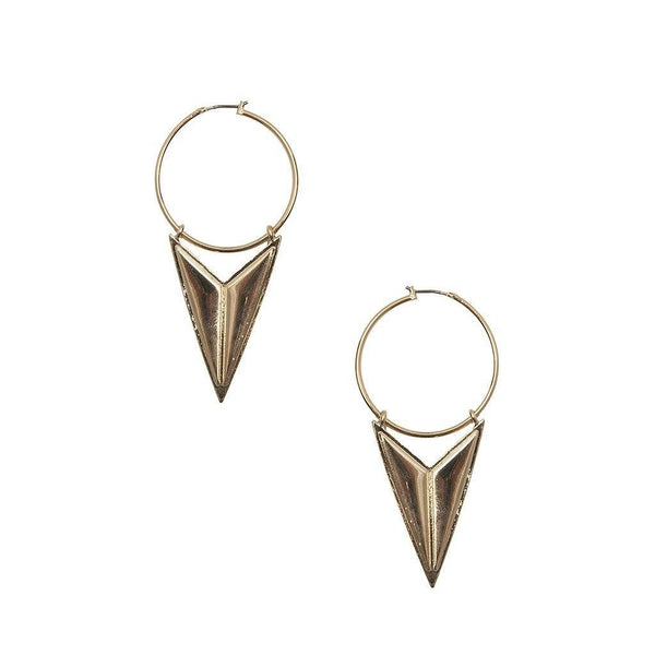 Mathematrix Earrings in Brass Earrings- Niobe Clothing