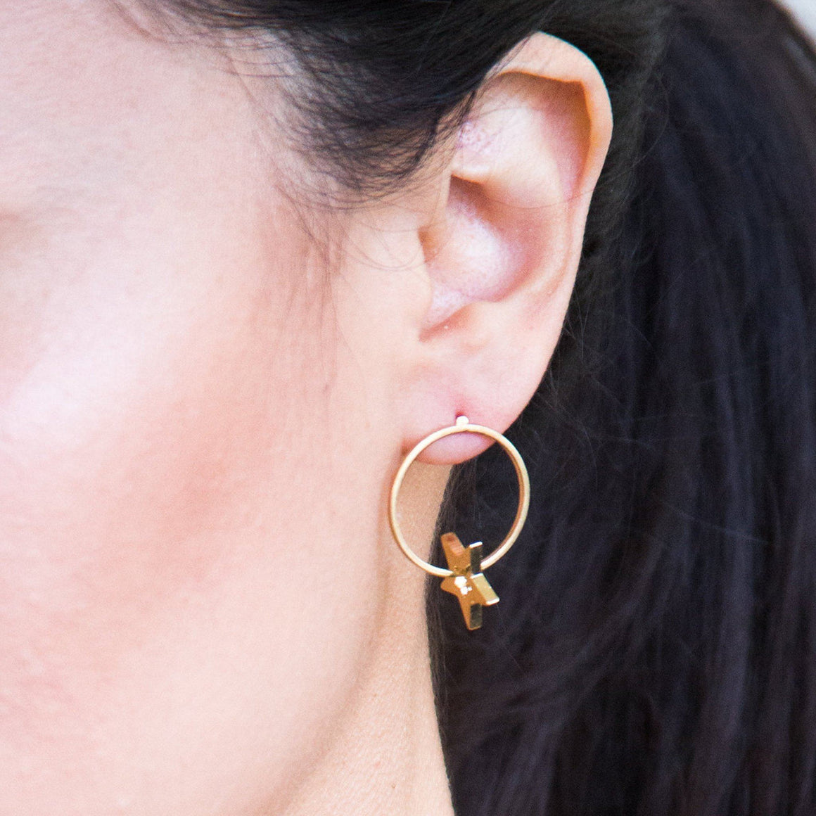 Carmen Earring in Gold Earrings- Niobe Clothing