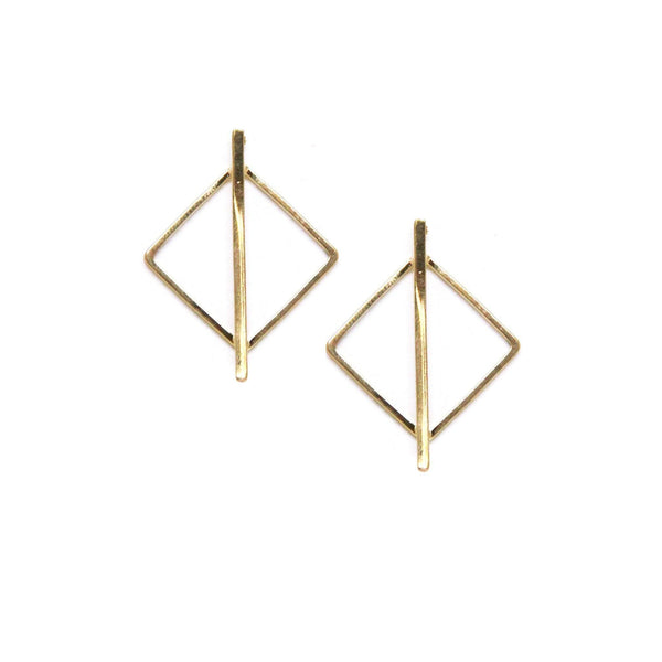 Lindsay Earring in Gold Earrings- Niobe Clothing