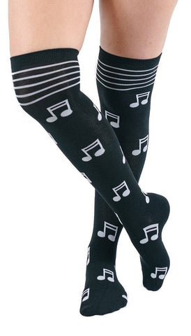 Musical Notes Knee High Socks