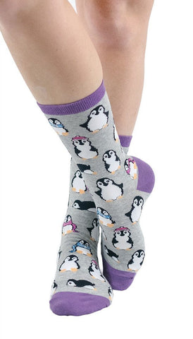 Chilly Penguins Crew Socks