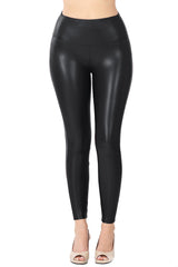 High Waist Faux Leather Leggings