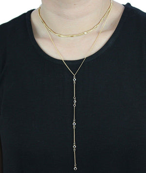 Hidden Gem Necklace in Gold Necklace- Niobe Clothing
