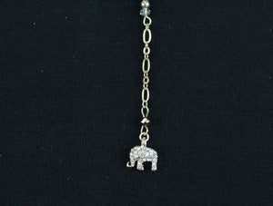 Love to Love Lariat in Topaz with Gold Elephant
