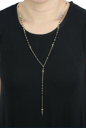 Enchanted Evening Necklace in Black and Gold Necklace- Niobe Clothing