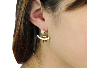 Eyes of Mars Earring in Opal and Gold-Earrings-Niobe Clothing