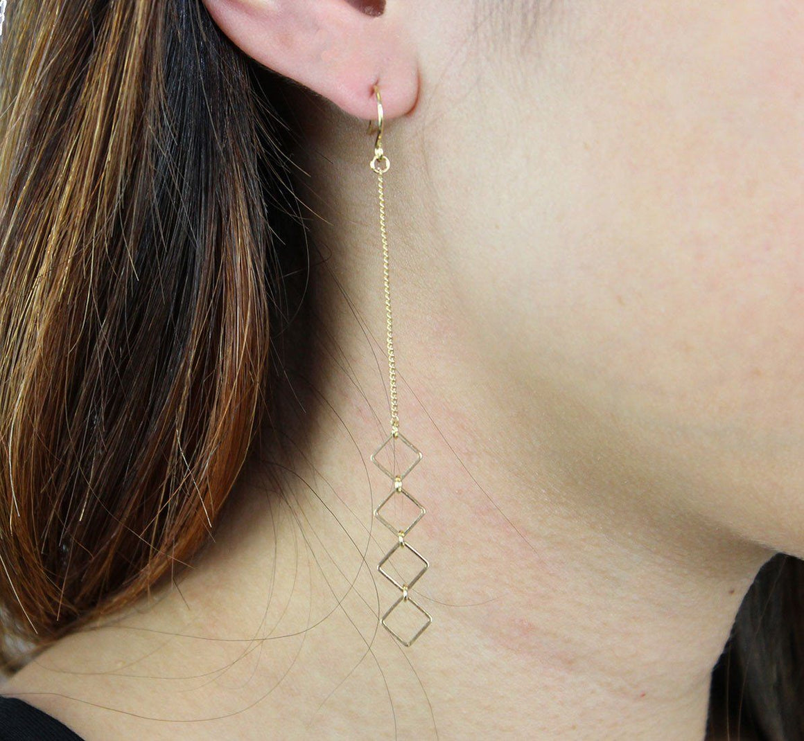 Trudy Earring in Gold-Earrings-Niobe Clothing