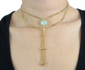 Gypsy Queen Choker in Gold Necklace- Niobe Clothing