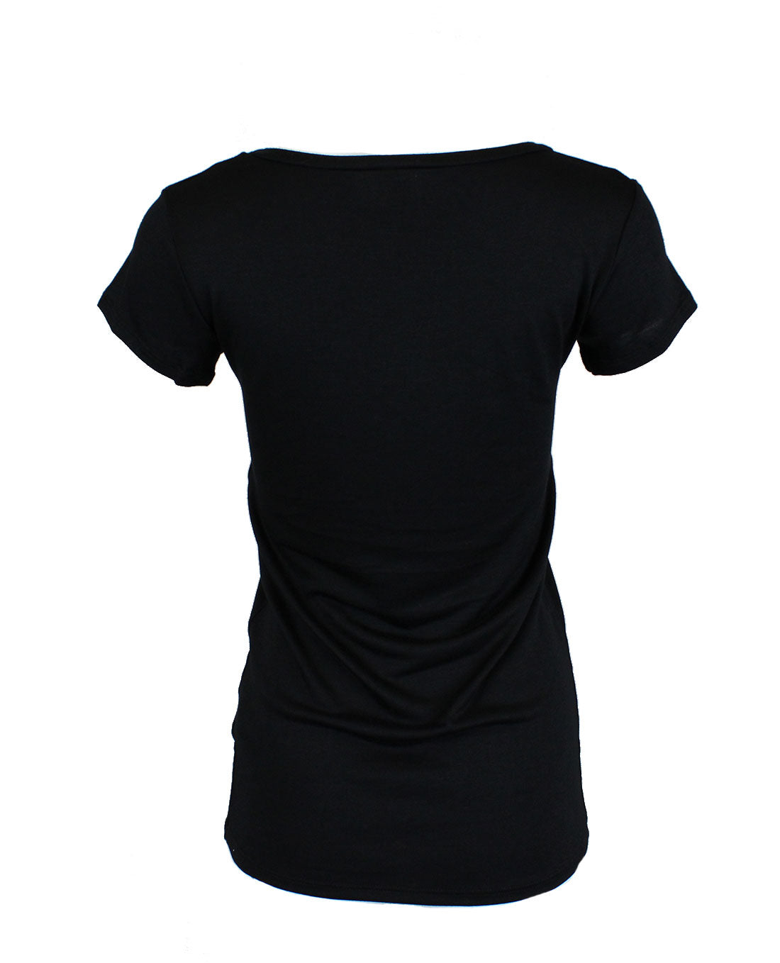 Good Vibe Tribe Scoop Neck Shirt in Black Tops- Niobe Clothing