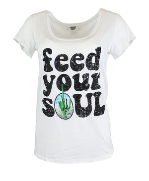 Feed Your Soul Scoop Neck Shirt Tops- Niobe Clothing