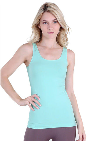 Seamless One Size Long Jersey Tank Top (Ice Mint) - Niobe Clothing