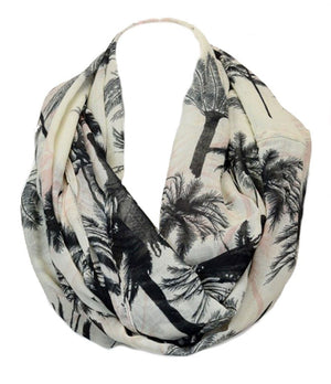 Palm Tree Color Splash Design Infinity Loop Scarf - Niobe Clothing - 1