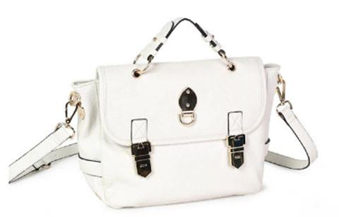 Ivory Faux Leather Shoulder Handbag Handbags- Niobe Clothing