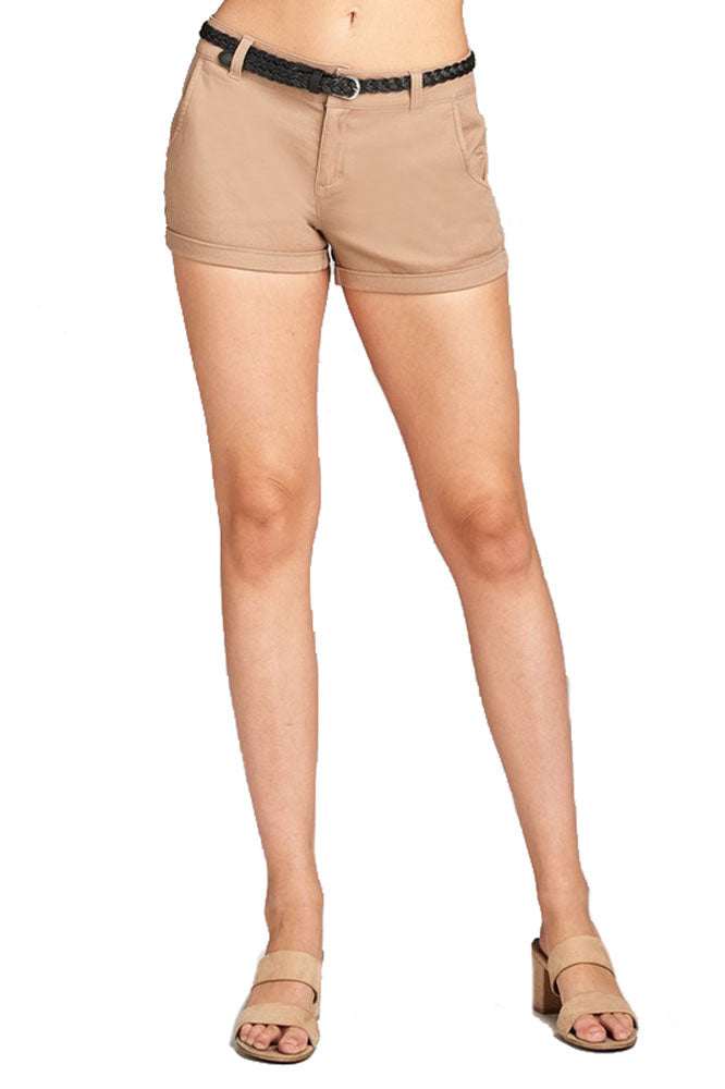 Low Rise Cuffed Walking Shorts