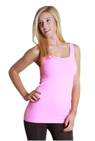 Seamless One Size Long Jersey Tank Top (Light Pink) - Niobe Clothing