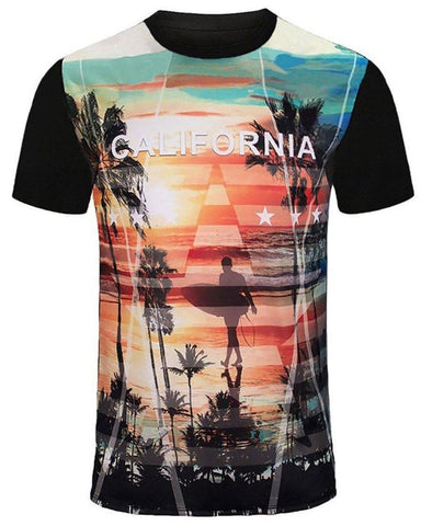 California Beach Sunset and Surf Shirt - Niobe Clothing - 1