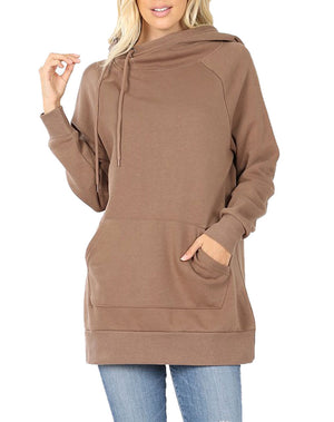 Side Tie Pullover Sweatshirt Hoodie Sweatshirt- Niobe Clothing