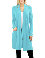 Long Sleeve Draped Long Cardigan Cardigans- Niobe Clothing