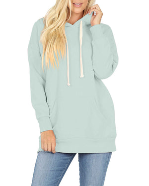 Basic Oversized Hooded Pullover Sweatshirt Sweatshirt- Niobe Clothing