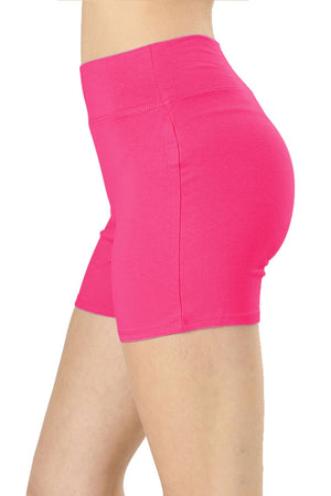 Cotton Workout Thick Band Biker Running Shorts leggings- Niobe Clothing