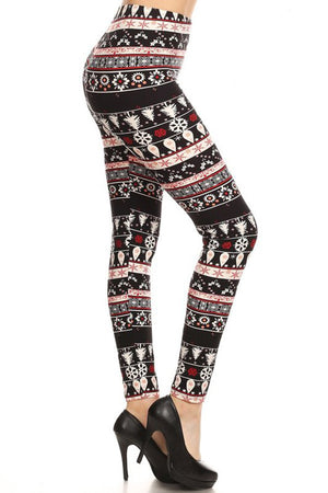 Night Time in Christmas Design Plus Size Leggings