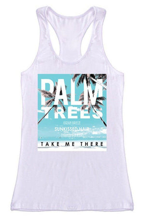 Tropical Palm Trees Racerback Tank Top