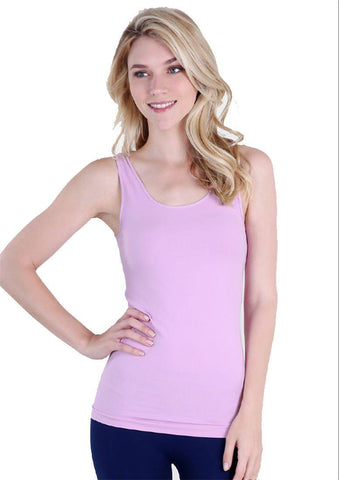Seamless One Size Long Jersey Tank Top (Pink Lavender) - Niobe Clothing