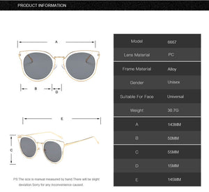 "Oversized ""Katherine"" Cat Eye Sunglasses in Silver Frame-Sunglasses-Niobe Clothing"