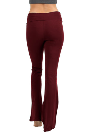 Solid Lounge Flared Yoga Pants