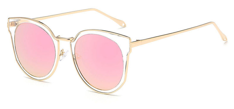 "Oversized ""Katherine"" Cat Eye Sunglasses in Gold Frame Sunglasses- Niobe Clothing"
