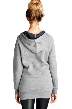 Raglan Long Sleeve Pullover Hoodie Sweater Long Sleeve Top- Niobe Clothing
