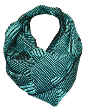 Stitch Bar Design Infinity Loop Scarf-Scarves-Niobe Clothing