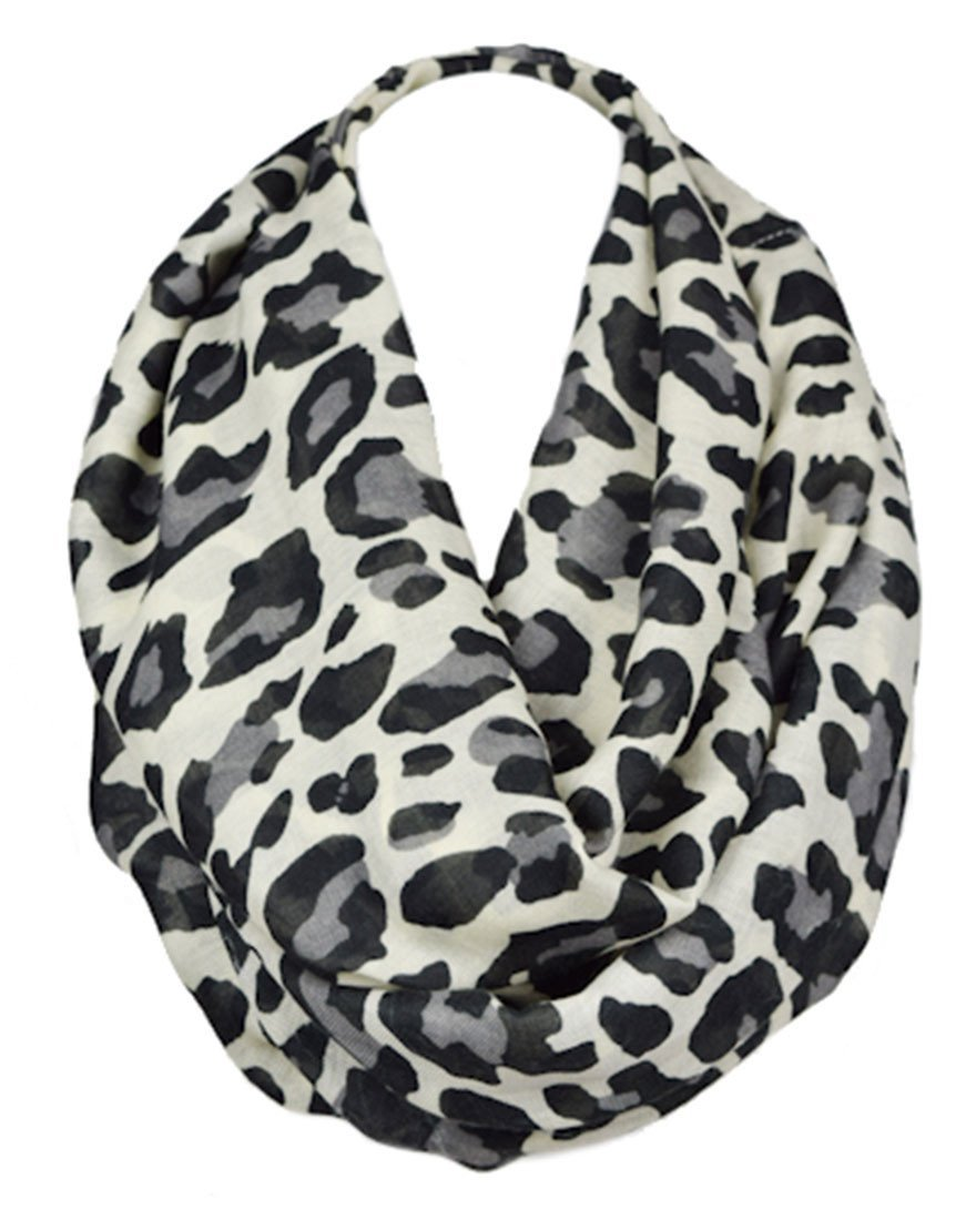 Leopard Design Infinity Loop Scarf - Niobe Clothing - 1
