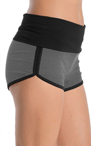 Two Tone Dolphin Shorts (Black/Charcoal) - Niobe Clothing - 1