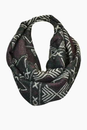 Tribal Design Infinity Loop Scarf