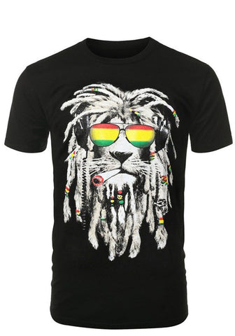 Rastafarian Smoking Lion Shirt - Niobe Clothing - 1