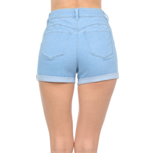 High Rise Junior Push Up Body Shaping Denim Shorts Shorts- Niobe Clothing