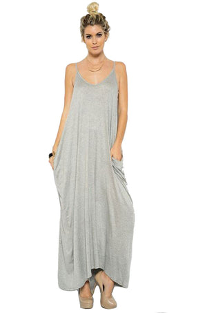 Harem Maxi Dress with Pockets dress- Niobe Clothing