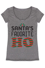 Santa's Favorite Christmas Holiday Graphic T-Shirt Shirts- Niobe Clothing