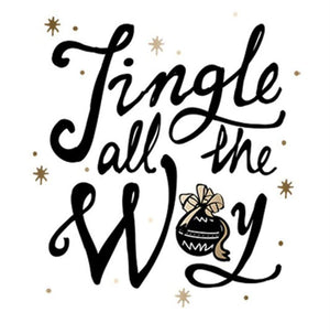 Jingle All The Way Christmas Holiday Graphic T-Shirt - Niobe Clothing - 1