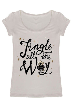 Jingle All The Way Christmas Holiday Graphic T-Shirt Shirts- Niobe Clothing