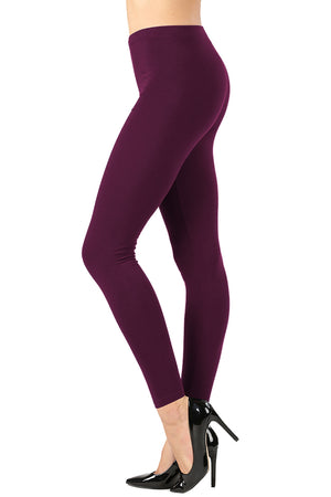 Cotton Full Length Ankle Leggings leggings- Niobe Clothing
