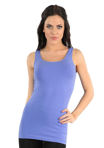 Seamless One Size Long Jersey Tank Top in Muscari